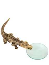 L'objet Crocodile Gold Magnifying Glass