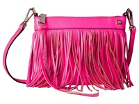 Rebecca Minkoff Mini Fringe Crossbody Electric Pink Cross Body Handbags