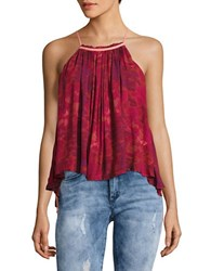 Free People Trapeze Halter Tank Red