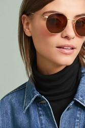 Anthropologie Coronado Round Sunglasses Gold