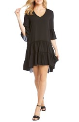 Karen Kane Tiered Ruffle Dress Black