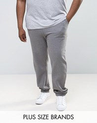 Jacamo Plus Joggers In Charcoal Marl Charc Marl Grey