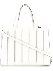 Max Mara Pleated Tote Bag White