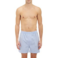 Barneys New York Men's Poplin Boxer Shorts Blue