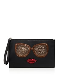 Carlos By Carlos Santana Eyes Have It Graphic Glitter Clutch Compare At 39 Black