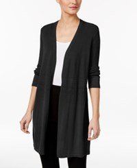 Alfani Mixed Stitch Duster Cardigan Only At Macy's Deep Black