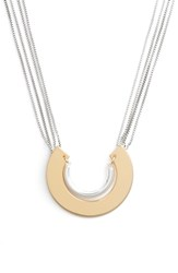 Jenny Bird Uma Pendant Multistrand Necklace Two Tone