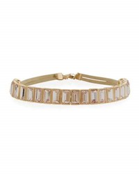 Lydell Nyc Simple Rectangular Crystal Choker Necklace Pink