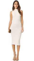 Alice Olivia Hana Mock Neck Ottoman Dress Off White