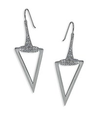 Abs By Allen Schwartz Rebel Soul Triangle Drop Earrings Silver