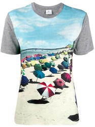 Paul Smith Ps Beach Print T Shirt Blue