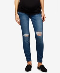 A Pea In The Pod 7 For All Mankind Maternity Ankle Skinny Jeans Vintage Dusk