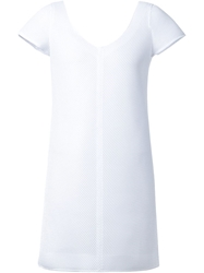 Courreges V Back Mesh Dress White