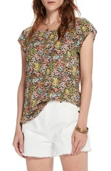 Scotch And Soda Tropical Print Top Combo