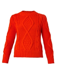Maison Martin Margiela Cable Knit Cropped Sweater