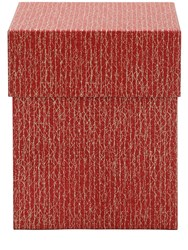 Rubelli Large Craquele Lacca Box Red Beige