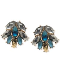 Lonna And Lilly Gold Tone Blue Stone Cluster Stud Earrings Multi