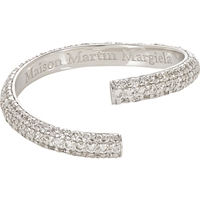 Maison Martin Margiela Fine Pave Diamond And White Gold 'Alliance' Split Ring