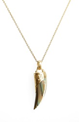 Heather Benjamin Abalone Shell Pendant Necklace Abalone Gold