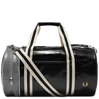 Fred Perry Authentic Colour Block Barrel Bag Black