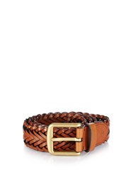 Mulberry Braided Leather Belt Tan