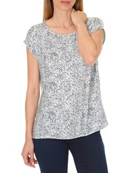 Betty And Co. Printed Top Reed Dark Blue