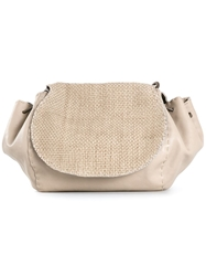 Henry Beguelin Woven Top Shoulder Bag Nude And Neutrals