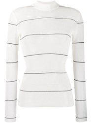 Missoni Delicate Stripe Jumper White