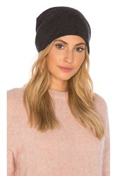 Plush Vegan Cashmere Reversible Beanie Gray