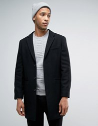 Kiomi Wool Overcoat Black