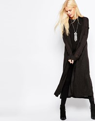 Religion Path Long Line Cardigan Grey