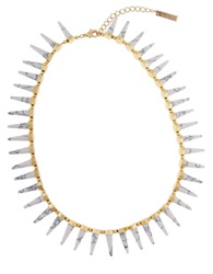 Rachel Zoe 12K Gold Cleo Spike Necklace
