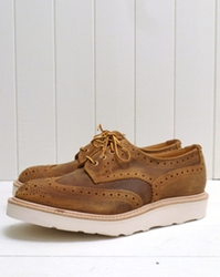Waxy Cuba Derby Brogue Shoe By Tricker's For The Bureau Available To Buy At The Bureau Belfast