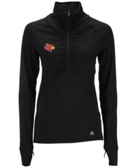 Adidas Women's Louisville Cardinals Climalite Ultimate Half Zip Pullover Black