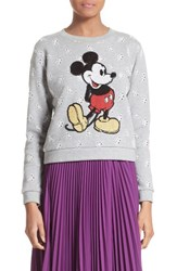 Marc Jacobs Women's Embellished Mickey Shrunken Sweatshirt