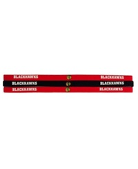Little Earth Chicago Blackhawks 3 Pack Elastic Headbands Team Color