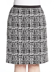 Calvin Klein Plus Size Jacquard Knit Pencil Skirt Black White