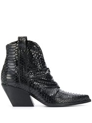 Strategia Embossed Block Heel Boots 60