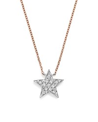 Dana Rebecca Designs Diamond Julianne Himiko Star Necklace In 14K White Gold With 14K Rose Gold Chain 16 White Rose
