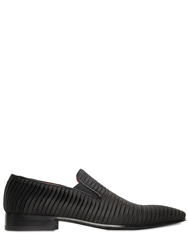 Giovanni Conti Pleated Satin Loafers Black