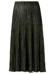 Gig Knit Midi Skirt Women Polyamide M Green