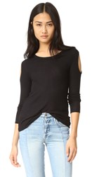 Chaser Cold Shoulder Long Sleeve Black