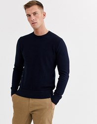 Ben Sherman Textured Crew Neck Jumper Navy