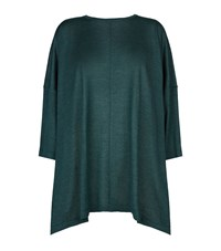 Eskandar Cashmere Silk Wide Knit T Shirt Female Green