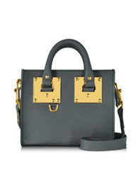Sophie Hulme Charcoal Saddle Leather Albion Box Tote Bag Dark Gray