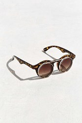Urban Outfitters Flip Top Double Lens Round Sunglasses Brown