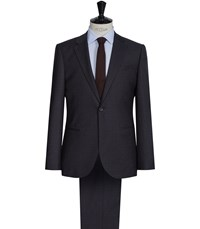 Reiss Corporal Modern Wool Suit In Charcoal