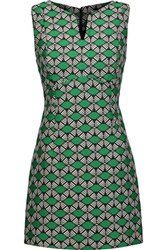 Milly Jacquard Mini Dress Forest Green