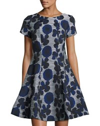Donna Ricco Floral Print Fit And Flare Dress Navy Multi