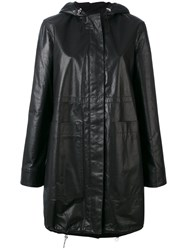 Paco Rabanne Hooded Rain Coat Black